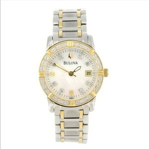 Bulova Two tone Diamond Watch